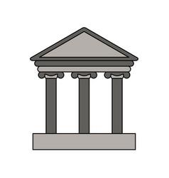 Gray color graphic parthenon icon vector