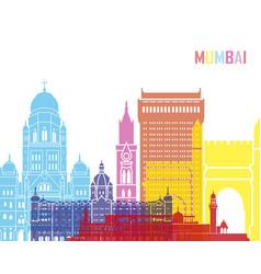 Mumbai skyline pop vector