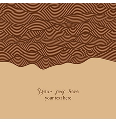 Abstract invitation card in chocolate theme vector
