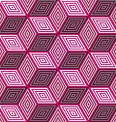 Abstract seamless background with 3d pink cubes vector