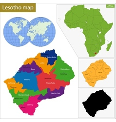 Lesotho map vector