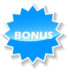 Bonus blue icon vector