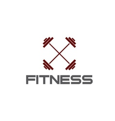 Barbell fitness vector