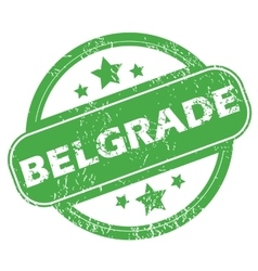 Belgrade green stamp vector