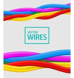 Abstract colorful curly wires seamless vector