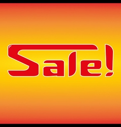 Sale in hot style vector