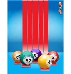 Bingo balls over red stripes vector