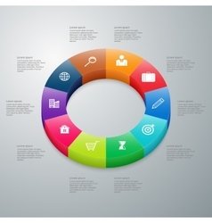 Infographics 10 options vector