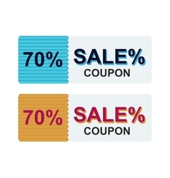 Sale coupon certificate template vector