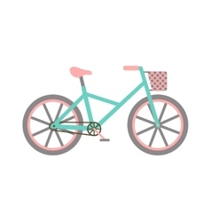 Bicycle with basket vector
