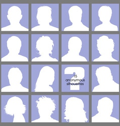 Anonymous Avatars vector image vector image