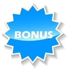 Bonus blue icon vector image vector image