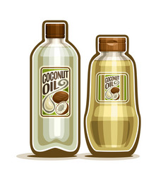 bottles with coconut oil vector image vector image