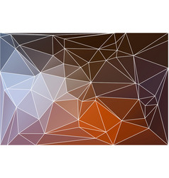 brown orange white geometric background with mesh vector image vector image