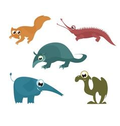 cartoon funny animals 8 vector image vector image