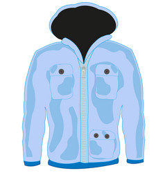 Cloth hooded jacket vector