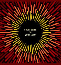 creative grunge sunbeams vector image