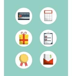 Digital marketing shopping vector