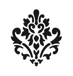 fleur de lis symbol black silhouette - heraldic vector image vector image