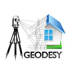 Geodesy symbol for surveyor vector