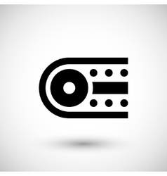 Industrial conveyor icon vector