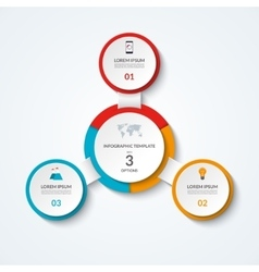 Infographic diagram with 3 options vector image