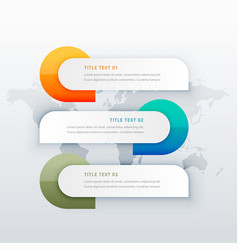 infographic template showing three steps vector image