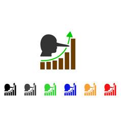 Lier hyip chart icon vector