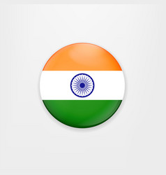 Made in india of banner and badge vector