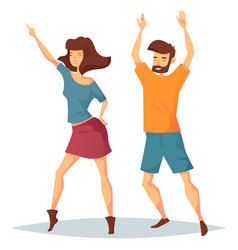 Man and woman dancing at music club or disco vector