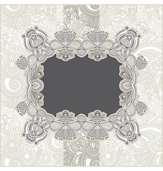 ornate vintage template with floral background vector image