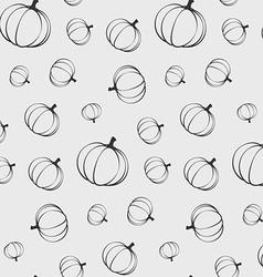 Pumpkins seamless pattern silhouette vector