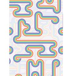 rainbow wave on a rainbow background vector image
