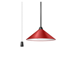 retro hanging lamp in red design vector image
