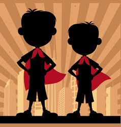 super kids 2 boys vector image vector image