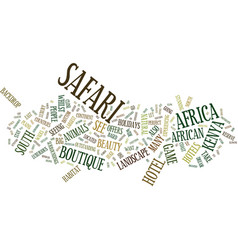 The perfect african safari text background word vector