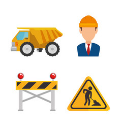 Under construction icon set vector