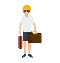 Avatar man wearing summer clothes vector