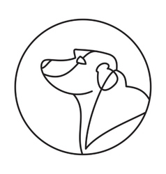 Head of breed dog labrador retriever vector