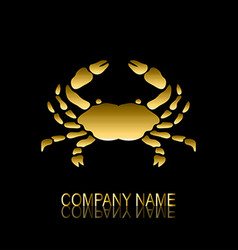 Golden crab symbol vector