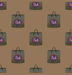 shopping paper bag seamless pattern vector image