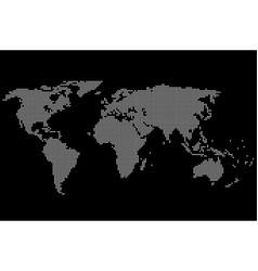 Pixel world map vector