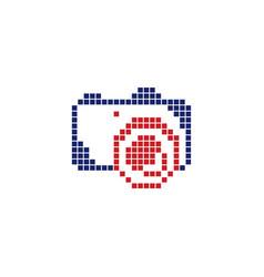 Photo camera logotype logo template vector