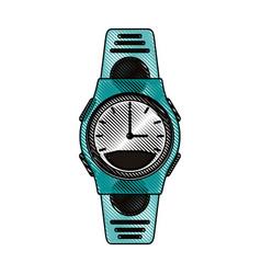Color blurred stripe sport male wristwatch vector