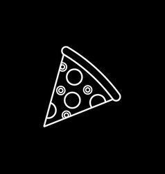 Pizza slice line icon food drink elements vector
