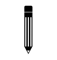 Black icon pencil cartoon vector