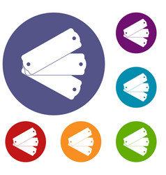 Three tags icons set vector