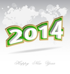 New year 2014 background vector