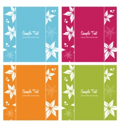 Floral card backgrounds vector
