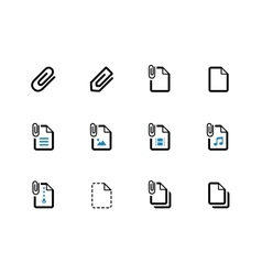 File clip duotone icons on white background vector